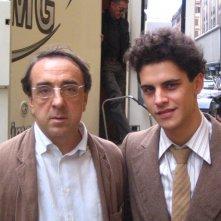 Andrea Montovoli e Silvio Orlando sul set de Il papà di Giovanna