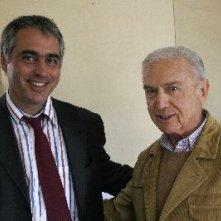 Massimiliano La Pegna con l'avvocato De Simone sul set dello spot Brio Blu Rocchetta