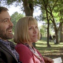 George Clooney e Frances McDormand in una scena del film Burn After Reading - A prova di spia
