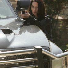 Robin Tunney in un momento dell'episodio Red Hair and Silver Tape della serie The Mentalist