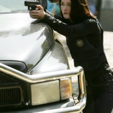 Robin Tunney in una scena dell'episodio Red Hair and Silver Tape della serie The Mentalist