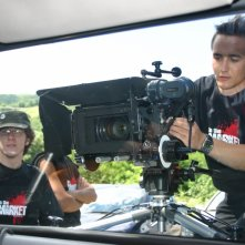 Nicola Santi Amantini e Daniele Bartoli sul set del film IN THE MARKET