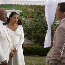 Rockmond Dunbar e Sanaa Lathan in una scena del film The Family That Preys