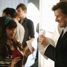 America Ferrera e Eric Mabius in un momento dell'episodio 'Filing for the Enemy' della serie Ugly Betty