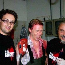 Il regista del film IN THE MARKET, Lorenzo Lombardi con Ottaviano Blitch e Sergio Stivaletti