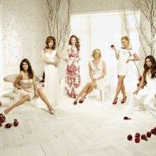 Dana Delany, Marcia Cross, Felicity Huffman, Nicollette Sheridan, Teri Hatcher e Eva Longoria in un'immagine promozionale per la quinta stagione di Desperate Housewives