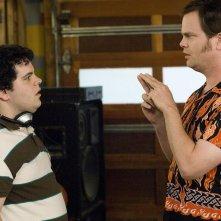 Josh Gad e Rainn Wilson in una scena di The Rocker - Il batterista nudo