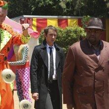 Lee Pace nel ruolo di Ned, insieme a Chi McBride, nel ruolo di Emerson nella serie Pushing Daisies, episodio: Circus, Circus