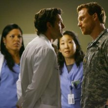 Patrick Dempsey, Kevin McKidd, Sandra Oh e Sara Ramirez nella serie Grey's Anatomy, episodio: Dream a little dream of me