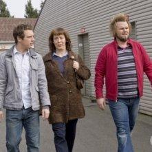 Bret Harrison, Christine Willes e Tyler Labine nell'episodio Tranelli di Reaper