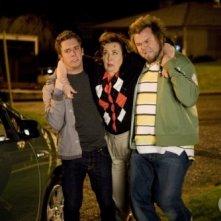 Bret Harrison, Christine Willes e Tyler Labine nell'episodio La talpa di Reaper