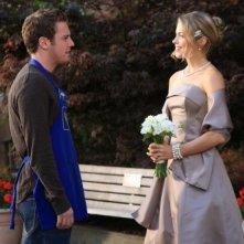 Bret Harrison e Pascale Hutton in una scena dell'episodio L'amore non esiste di Reaper