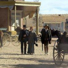 Ed Harris, Renée Zellweger e Viggo Mortensen in una scena del film Appaloosa
