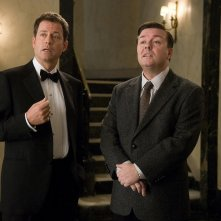 Greg Kinnear e Ricky Gervais in una sequenza del film Ghost Town