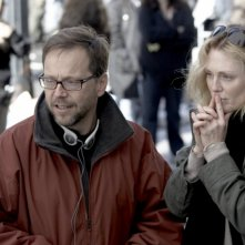 Il regista Fernando Meirelles e Julianne Moore sul set del film Blindness