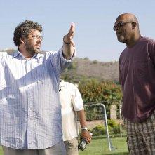 Il regista Neil LaBute e Samuel L. Jackson sul set del film La terrazza sul lago