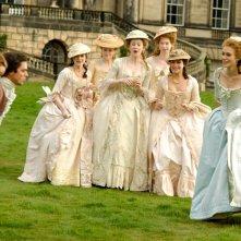 Keira Knightley in una sequenza del film La duchessa