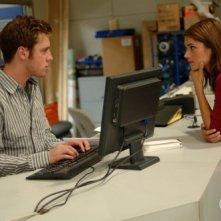Missy Peregrym e Bret Harrison nell'episodio A proposito di melma della serie TV Reaper