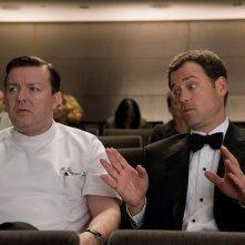 Ricky Gervais e Greg Kinnear in una sequenza del film Ghost Town