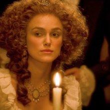 Un primo piano di Keira Knightley, protagonitsa del film La duchessa