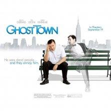 Un wallpaper del film Ghost Town con Ricky Gervais e Greg Kinnear