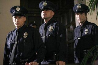 Wentworth Miller, Dominic Purcell e William Fichtner in una scena dell'episodio Eagles and Angels di Prison Break