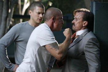 Wentworth Miller e Dominic Purcell in una scena dell'episodio Eagles and Angels di Prison Break