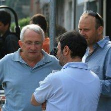 Alberto Franceschini, Gianfranco Pannone e Giovanni Fasanella sul set del documentario Il sol dell'avvenire