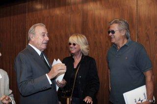 Biagio Agnes e Loretta Goggi alla presentazione della collana 'I grandi sceneggiati della televisione italiana'