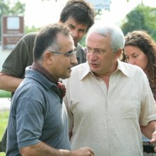 Gianfranco Pannone, Alberto Franceschini e Roberto Ognibene sul set del film Il sol dell'avvenire
