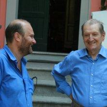 Gianfranco Pannone e Corrado Corghi sul set del film Il sol dell'avvenire