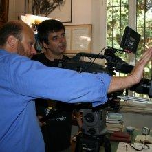 Gianfranco Pannone e Marco Carosi sul set de Il sol dell'avvenire