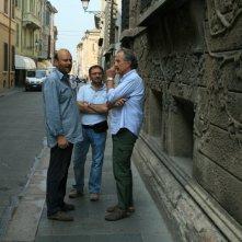 Gianfranco Pannone, Giovanni Fasanella e Paolo Rozzi sul set de Il sol dell'avvenire