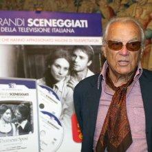 Giorgio Albertazzi alla presentazione della collana 'I grandi sceneggiati della televisione italiana'