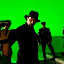 Il regista Frank Miller sul set del film The Spirit