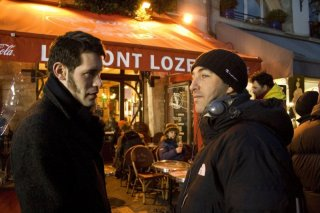 Jalil Lespert e il regista Marco Pontecorvo sul set del film Pa-ra-da