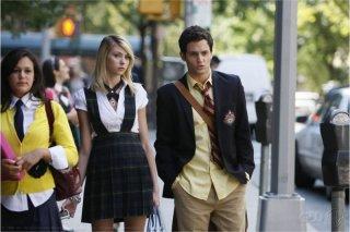 Taylor Momsen e Penn Badgley nell'episodio 'The Serena Also Rises' della serie tv Gossip Girl