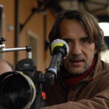 Una foto sul set del regista Massimo Spano