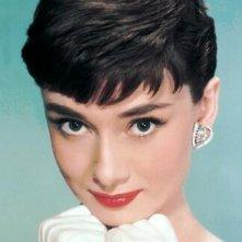 Uno splendido primo piano di Audrey Hepburn