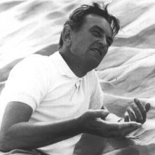 Il regista David Lean sul set di Lawrence d'Arabia