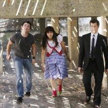 Freddy Rodriguez, America Ferrera e Eric Mabius nell'episodio 'Betty Suarez Land' della serie tv Ugly Betty