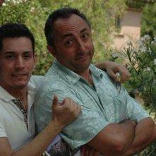 Il regista Matteo Tondini e il produttore Valentino Peduli sul set del corto Il mio ultimo giorno di guerra