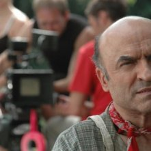 Ivano Marescotti sul set del cortometraggio Il mio ultimo giorno di guerra