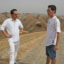 Marco e Matteo Tondini sul set del corto Il mio ultimo giorno di guerra