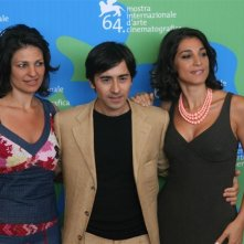 Mostra del Cinema di Venezia 2007: Ornella Giusto con Luigi Lo Cascio e Donatella Finocchiaro