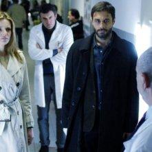 Christiane Filangieri  e Daniele Pecci in una scena della serie Crimini bianchi
