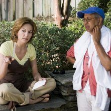 Diane Lane e il regista George C. Wolfe sul set del film Nights in Rodanthe