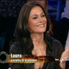 Isola dei Famosi 6: la sorella di Vladimir Luxuria, Laura Guadagno, interviene in studio durante la seconda puntata