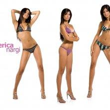 Un sexy sfondo per il desktop di Federica Nargi, la velina mora di Striscia la Notizia