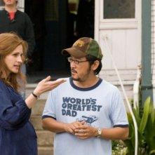 Julia Roberts e il regista Dennis Lee sul set del film Un segreto tra di noi - Fireflies in the Garden
